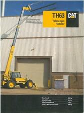 CATERPILLAR CAT TH63 TELESCOPIC HANDLER BROCHURE -BX111