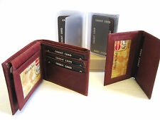 FATHERS DAY GIFT BOX 4 IN 1 WALLET INSERTS CREDIT CARD HOLDER BROWN NEW