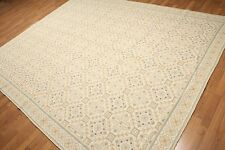8x10 - 100% wool hand woven French Needlepoint Aubusson area rug flat pile
