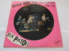 SEX PISTOLS PICTURE DISC LP NEVER MIND THE BOLLOCKS 1977 VIRGIN