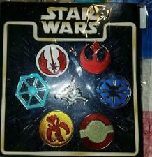 DISNEY Pins Booster Pack Set STAR WARS EMBLEMS 7 pin set - NEW