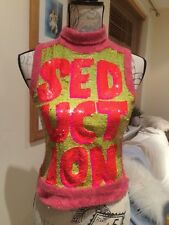 Custo Barcelona Designer Sequin Top, size 1 (S/8) Cost £240 SEDUCTION it Says