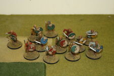 28mm 12 x Painted Gripping Beast Saxon Warriers with Hand Weapons  Lion Rampant