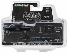 1:64 GreenLight *HITCH & TOW 8* GAS MONKEY GARAGE Ram w/HEAVY  DUTY CAR TRAILER