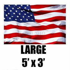 USA AMERICAN STARS AND STRIPES LARGE AMERICA NATIONAL FLAG OLYMPICS 5 X 3FT BG