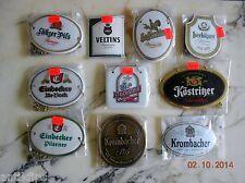 10 Zapfhahnschilder Konvolut (Paket 1)