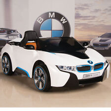 BMW i8 12V Ride On Kids Battery Power Wheels Car RC Remote White