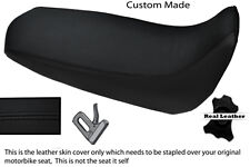 BLACK STITCH CUSTOM FITS YAMAHA XT 125 R X 05-12 REAL LEATHER SEAT COVER