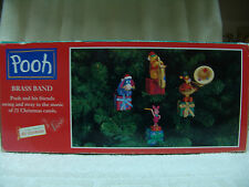 MR. CHRISTMAS POOH & HIS FRIENDS BRASS BAND W/BOX WORKING MUST C