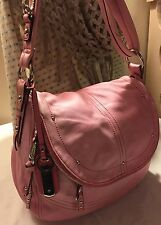 "B. Makowsky 'Pink' light&soft leather Shoulder Bag ""Cynthia"" Conversion"