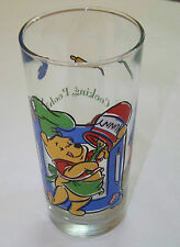 DISNEY Juice Glass: WINNIE the POOH - WHAT'S COOKING POOH 14oz