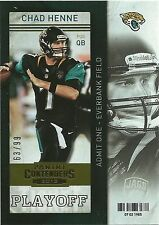 CHAD HENNE 2013 Panini Contenders Playoff Ticket Card #52 #/99 Jaguars
