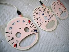 00 01 02 03 Chrysler PT Cruiser White and Pink Face Glow Cluster Gauges kit