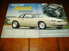 1985 FORD MUSTANG WITH A 1996 COBRA SVT ENGINE ***ORIGINAL 2003 ARTICLE***
