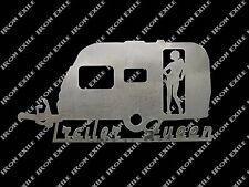 Trailer Queen Redneck Sexy Lady Funny Hot Rat Rod Garage Wall Metal Art Sign