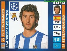 077 ESTEBAN GRANERO ESPANA REAL SOCIEDAD STICKER CHAMPIONS LEAGUE 2014 PANINI