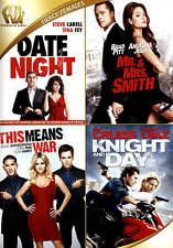 Date Night/Mr.  Mrs. Smith/This Means War/Day  Knight (DVD 2015, 4-Disc Set) DVD