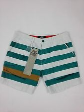 Diesel 55DSL New Men's Polarish Shorts Size 33 Color White striped green