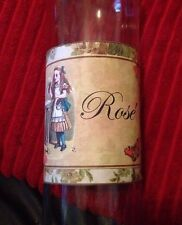 Alice In Wonderland Style Wine Bottle Labels