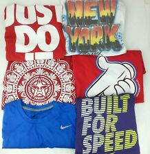 Lot of 6 Men's XL Extra Large T-Shirt Tees Nike Obey Crooks Castles Zoo York