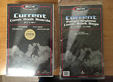 100+ BCW Current Comic Book Bags (124) and Boards (119) New