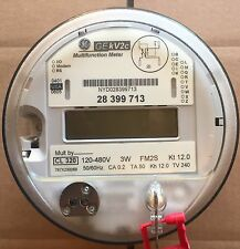 GE, GENERAL ELECTRIC WATTHOUR METER KWH, KV2C, FM2S, 4 LUG, 3W, 120-480V, 200A
