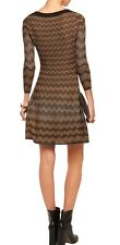 M MISSONI METALLIC CROCHET KNIT WAFFLE TRIM DRESS IT 40 / US 4 $595