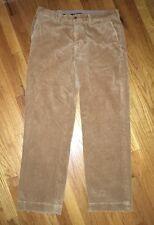 POLO RALPH LAUREN 100% Cotton Corduroy Jeans Pants Mens 36/32 Tan Preston Flat