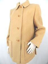 Womens 100% Camel Hair Coat Tan Jacket USA Made by Images Sz 10 Vintage