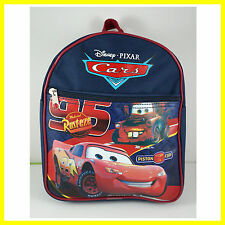 "Pixar Cars McQueen Black School 10"" Backpack Rucksack Book Bag + GIFT FREE SHIP"