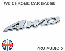 4WD Four Wheel Drive Chrome Car Badge - 4x4 Badge Metal - Cars Vans Trucks - UK