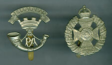 2 Vintage British Somerset Infantry Jellalabad Hat & Waterloo & Peninsula Badges