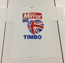 DAILY MIRROR WE LOVE TIMBO - WIMBLEDON MEMORABILIA T-SHIRT MENS SIZE XL