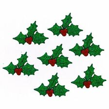 Jesse James Buttons ~ Dress It Up ~ Glitter Holly 4979 ~ Christmas Holly ~ Craft