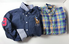 Ralph Lauren Boys Winter Lot of 2 Medium 12 / 14 Long Sleeve Button Down Shirts