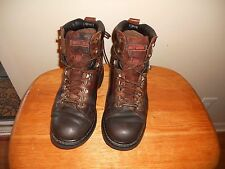 MEN'S Harley Davidson Brown Lace Up Motorcycle Ankle  Boots Size 9.5