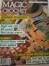 June 1987 Magic Crochet Pattern Back Issue Magazine Mats Gift Sachet Baby Dress