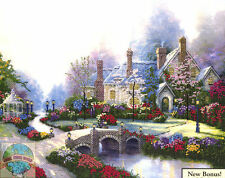 Cross Stitch Kit ~ Thomas Kinkade Beyond Spring Gate Stone Home #51070 (E)
