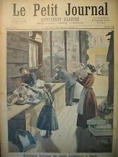 BUREAU DE POSTE AUXILIAIRE EVASION BAGNE FREJUS AVALANCHE LE PETIT JOURNAL 1894
