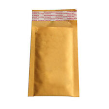 10X 90*130+40mm Kraft Bubble Bag Padded Envelopes Mailers Shipping Yellow AT
