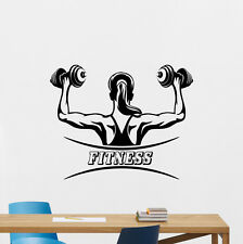 Fitness Wall Decals Sport Girl Woman Gym Poster Vinyl Sticker Club Decor 158hor