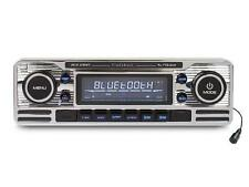 AUTO Classiche Stile Retrò Chrome Lettore CD Auto Bluetooth FM USB SD AUX IN