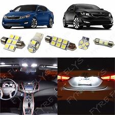 9x White LED lights interior package kit for 2011-2016 Kia Optima KO1W