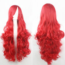 80cm Fashion Women Long Wavy Hair Synthetic Wigs Women Cosplay Wigs Costume Wig