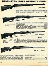 1976 Print Ad Remington Model 700ADL 700BDL Safari & C Custom Bolt Action Rifle