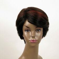 perruque femme afro 100% cheveux naturel courte méchée noir/rouge WHIT 04/1b410