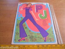 P.J. Cover Girl Whitman Paper Doll book 1971 Party Go Pacesetters Country