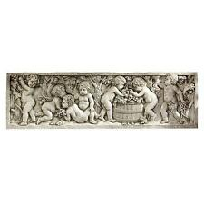 18-cent. Cherubs Wine Harvest Relief Sculpture by Clodion Reproduction Replica