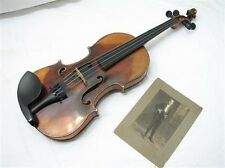 Rare Antique John Parker Violin Full Size Flame Maple 1895 Nice Fiddle Serviced