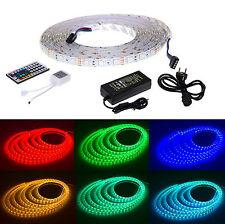 LED Leiste Strip 5m RGB Lichterkette Lichter Streifen SMD Leuchte Band Netzteil